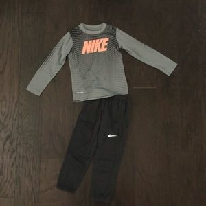Nike boys two piece dri-fit set. Never worn.